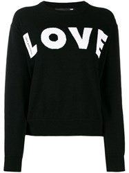 Love Moschino Relaxed Fit 'Love' Jumper Black