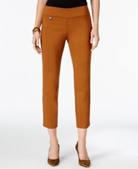 Alfani Tummy Control Pull On Capri Pants Only At Macy's Brushed Sienna