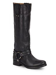 Frye Melissa Leather Harness Boots Black