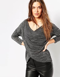 Vero Moda Long Sleeve Scoop Neck T Shirt Black