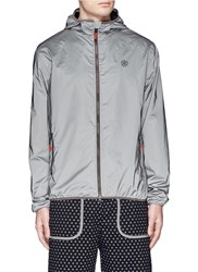 Icny 'Reflector' Windbreaker Jacket Metallic Grey