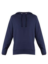 Martine Rose Embroidered Cotton Jersey Hooded Sweatshirt Navy