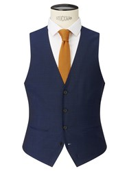 John Lewis Kin By Miller Pindot Tailored Waistcoat Bright Blue