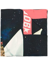 Golden Goose Deluxe Brand Printed Scarf Blue