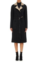 Atm Anthony Thomas Melillo Women's Reversible Robe Coat Black