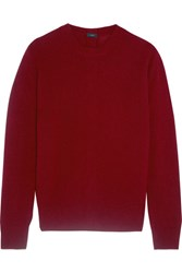 Joseph Button Detailed Cashmere Sweater Burgundy
