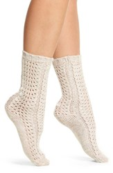 Lemon Women's Feather Twist Crew Socks Shell
