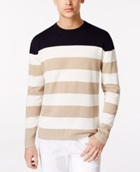 Ryan Seacrest Distinction Rugby Crew Sweater Only At Macy's Linen Heather
