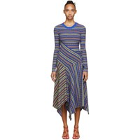 Opening Ceremony Blue And Multicolor Midi Dress