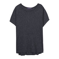 Violeta By Mango Cotton Top Black