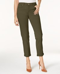 Charter Club Tummy Control Boyfriend Jeans Created For Macy's Autumn Sage