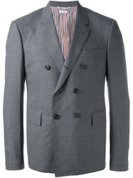 Thom Browne Double Breasted Blazer Grey