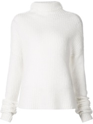 Haider Ackermann Ribbed Turtleneck Sweater White