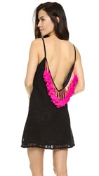 Sundress Lana Short Beach Dress Black Pink
