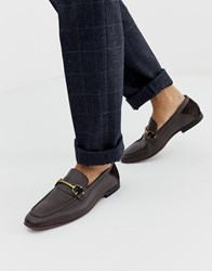 Kg By Kurt Geiger Loafers In Tan Leather With Snaffle Detail Brown