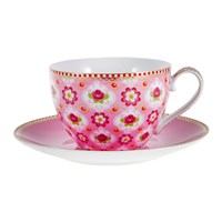 Pip Studio Blossom Cappuccino Cup And Saucer Pink