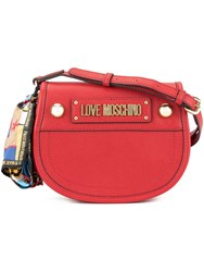 Love Moschino Cross Body Bag With Scarf Red