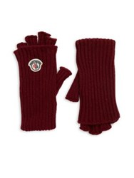 Moncler Guanti Wool And Cashmere Fingerless Gloves Black