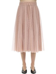 Red Valentino Plumetis Midi Skirt Blush