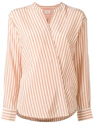 Closed Striped Wrap Shirt Pink Purple