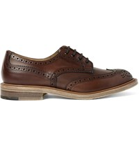 Junya Watanabe Tricker's Burnished Leather Wingtip Brogues Brown