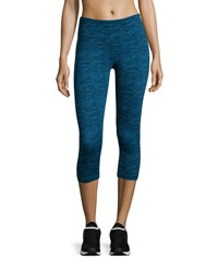 Marika Tek Printed Capri Activewear Leggings Methyl Blue