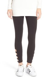 Hue Women's Cutout Ankle Leggings