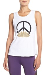 Women's Onzie 'Nama' Tank White Peace Sign