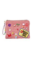 Venessa Arizaga Have A Nice Day Clutch Bag Pink Multi