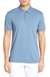Velvet By Graham And Spencer Men's Bryant Jersey Polo Chambray