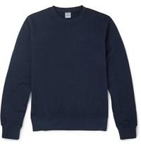 Aspesi Loopback Cotton Jersey Sweatshirt Blue