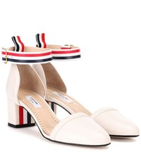 Thom Browne Leather Pumps White