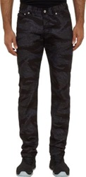Westbrook Xo Barneys New York X Naked And Famous Weird Guy Camo Print Jeans Black