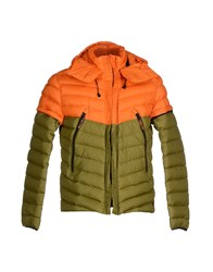 Diadora Heritage Coats And Jackets Down Jackets Men Orange