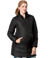 Motherhood Maternity Quilted Puffer Coat Black