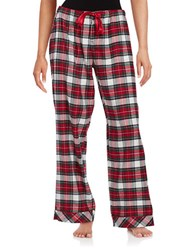 Lord And Taylor Flannel Plaid Pajama Pants Red