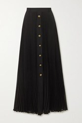Philosophy Di Lorenzo Serafini Pleated Georgette Maxi Skirt Black