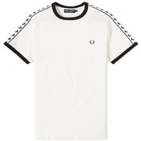 Fred Perry Taped Ringer Tee White