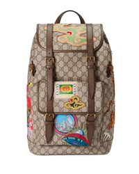 Gucci Courier Soft Gg Supreme Backpack Beige