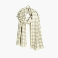 Madewell Brushed Buffalo Check Scarf Hthr Pelican