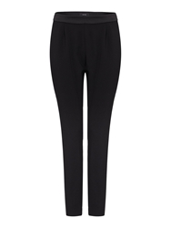 Therapy Soft Tailored Satin Waistband Trousers Black