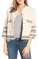 Velvet By Graham And Spencer Women's Embroidered Cotton Jacket