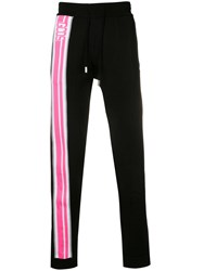 Gcds Stripe Detail Track Pants Black