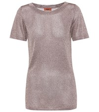 Missoni Knitted Metallic T Shirt Gold