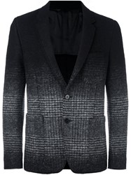 Dondup Ombre Tweed Blazer Black