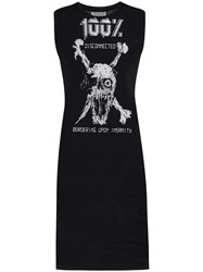 Ashley Williams Skull Print Sleeveless Dress 60