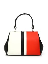 Prada Calf Baiadera Small Frame Bag White Red