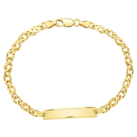 Ibb 9Ct Gold Celtic Id Bracelet Gold