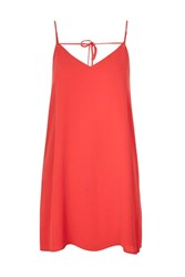 Topshop Rouleau Slip Dress Red