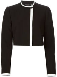 Alice Olivia Mock Neck Cropped Jacket Black
